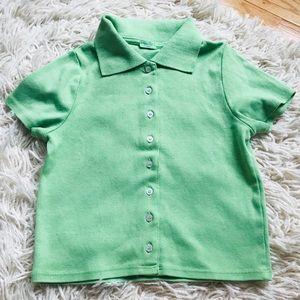BRANDY MELVILLE GREEN CAROLINE TOP